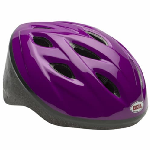 Bell Sports Inc 7063275 Girls Star Bike Helmet, Purple Perspective: front