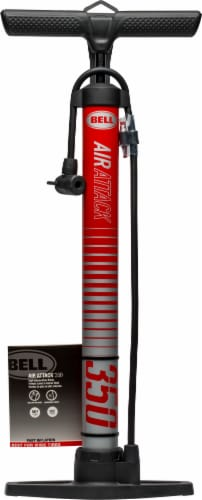 Bell Air Attack 350 High-Volume Floor Pump - Red Perspective: front