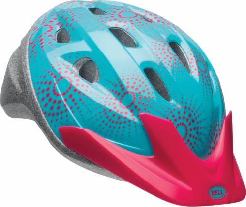 Bell Rally Child Bike Helmet - Blue/Pink Stardust Perspective: front