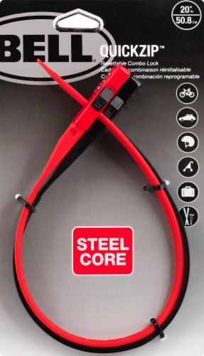 Bell Quickzip Resettable Combo Lock Perspective: front