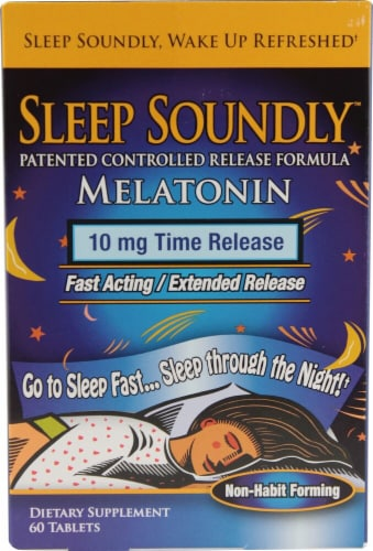 Windmill Health Products  Sleep Soundly Melatonin Perspective: front