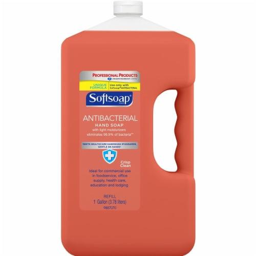 Softsoap 128 Oz. Professional Antibacterial Liquid Hand Soap Refill CPC201903 Perspective: front