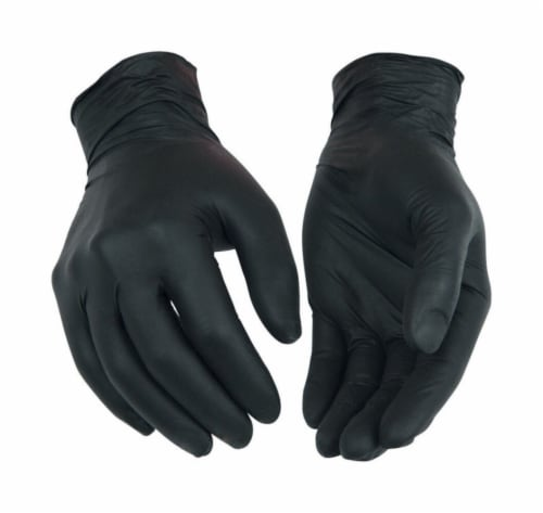 Kinco Powder Free Large Nitrile Disposable Gloves Perspective: front