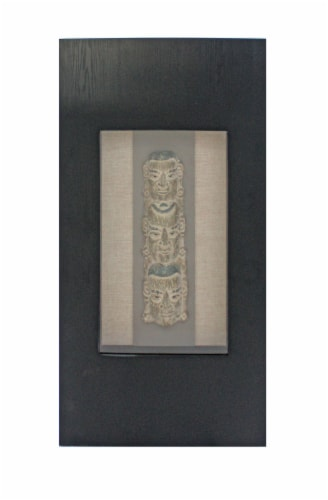 Traditional Facial-makeup Patterned Plaque Wall Decor Perspective: front