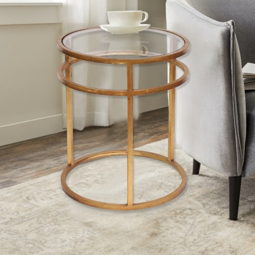 TETON HOME MINIMALIST GOLD COFFEE TABLE - AF-118 Perspective: front