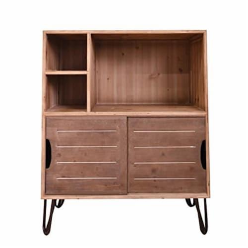 Teton Home AF-135 Wooden Cabinet & Storage - Natural Perspective: front