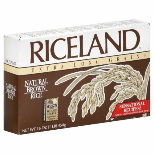 Riceland Extra Long Grain Natural Brown Rice Perspective: front