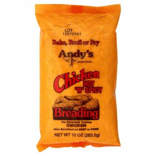 Andy's Spicy Chicken Breading Perspective: front