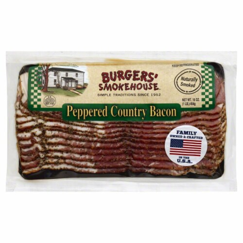 Burgers' Smokehouse Peppered Country Bacon Perspective: front