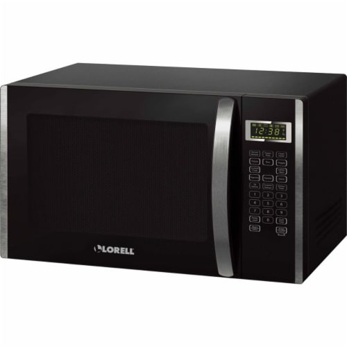 Lorell LLR00231 1.6 cu ft. Microwave Touch Panel, Black & Silver Perspective: front