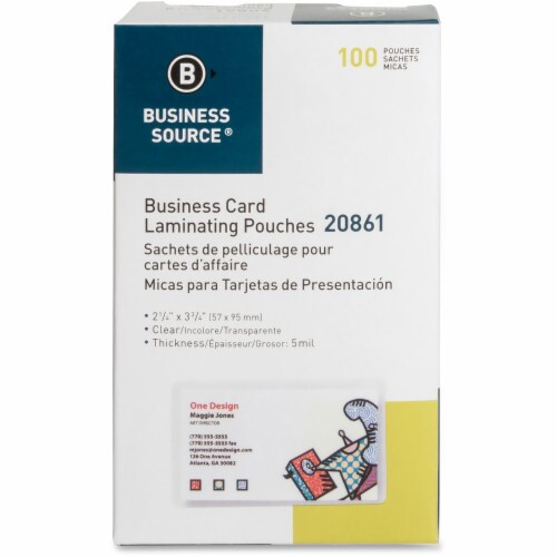 Business Source  Laminating Pouch 20861 Perspective: front