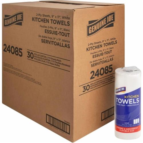 Genuine Joe GJO24085 Kitchen Paper Towel - 85 Sheet, White Perspective: front