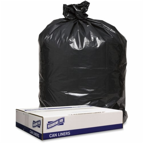 Mars Drinks GJO98211 43 x 47 in. Trash 1.6 mil Can Liners- Black, 100 Count Perspective: front