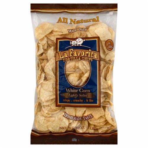 La Favorita White Corn Tortilla Chips Perspective: front