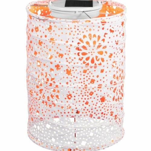 Allsop Home & Garden 31023 Soji Stella Lantern, Neon Orange Perspective: front