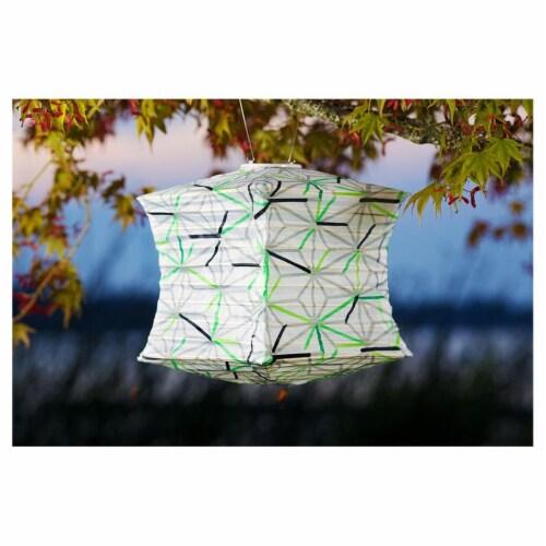 Allsop Home & Garden 31409 Soji Printed Lantern, Geo Star Perspective: front