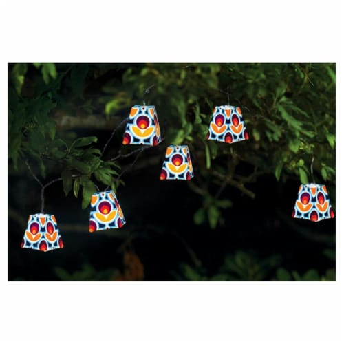 Allsop Home & Garden 31428 Soji Solar String Lantern, Mod Tulip Perspective: front