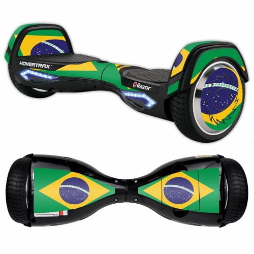 MightySkins RAHOV2-Brazilian Flag Skin Decal Wrap for Razor Hovertrax 2.0 Hover Board Scooter Perspective: front