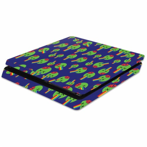 MightySkins SOPS4SL-Rainbow Brains Out Skin for Sony Playstation 4 Slim PS4 Wrap Cover - Rain Perspective: front