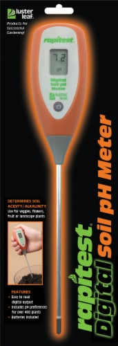 Luster Leaf Rapitest Digital Soil pH Meter - Orange Perspective: front