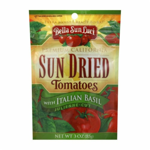 Bella Sun Luci Sun Dried Julienne Cut Tomatoes with Italian Basil Perspective: front