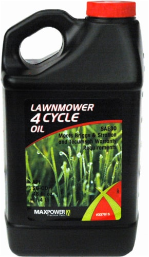 MaxPower Precision Parts 4-Cycle Premium Grade Oil - 48 Ounce Perspective: front