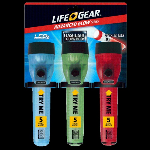 Life Gear® Advanced Glow LED Flashlight - Assorted Perspective: front