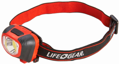 Life Gear® Red/Black Storm Proof Headlamp Perspective: front