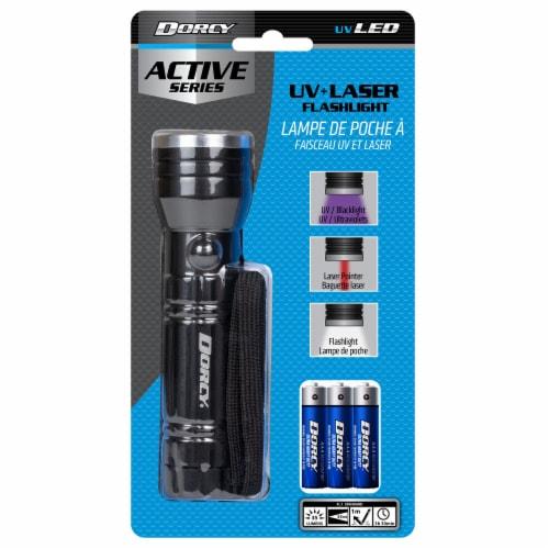 Dorcy Active Series UV + Laser Flashlight - Black Perspective: front