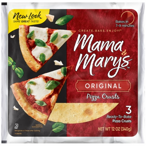 Mama Mary's Original Pizza Crusts 3 Count Perspective: front