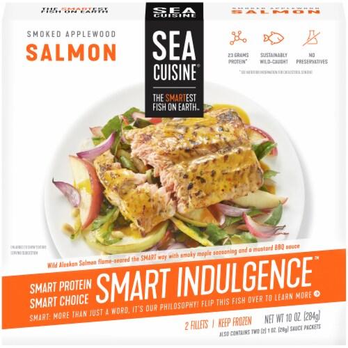 Sea Cuisine Smart Indulgence Smoked Applewood Wild Alaska Salmon Perspective: front
