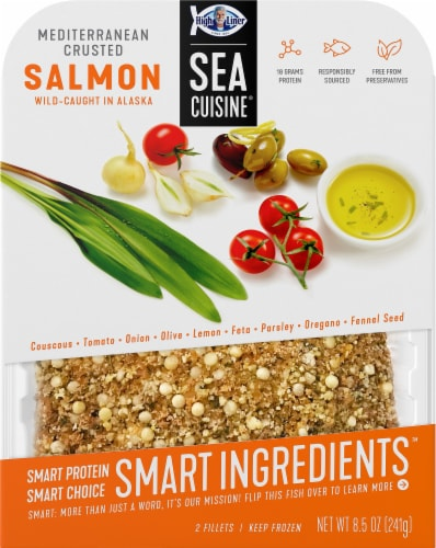 Sea Cuisine Smart Ingredients Mediterranean Crusted Salmon Fillets Perspective: front
