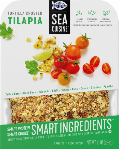 Sea Cuisine Smart Ingredients Tortilla Crusted Tilapia Fillets Perspective: front