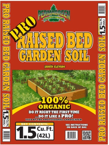 Permagreen Pro Raised Bed Garden Soil Perspective: front