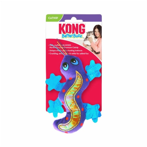 Kong 56045925 Better Buzz Gecko Cat Toy Perspective: front