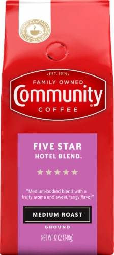 Community Coffee Five Star Hotel Blend Medium Roast Ground Coffee Perspective: front