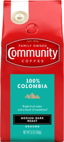 Community Coffee 100% Colombia Medium-Dark Roast Ground Coffee Perspective: front