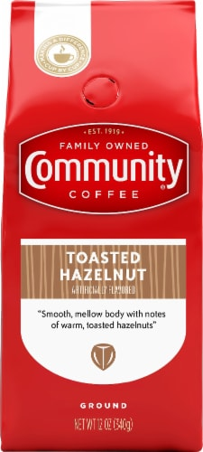 Community Coffee Toasted Hazelnut Ground Coffee Perspective: front