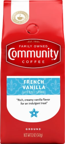 Community Coffee French Vanilla Ground Coffee Perspective: front