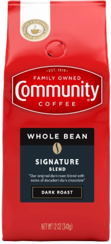 Community Coffee Signature Blend Dark Roast Whole Bean Coffee Perspective: front