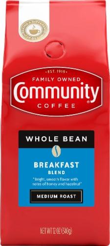 Community Coffee Breakfast Blend Medium Roast Whole Bean Coffee Perspective: front
