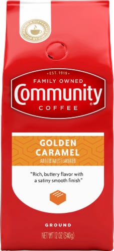 Community Coffee Golden Caramel Ground Coffee Perspective: front