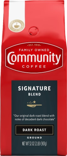 Community Coffee Signature Blend Dark Roast Ground Coffee Perspective: front