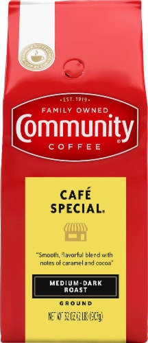Community Coffee Cafe Special Medium-Dark Roast Ground Coffee Perspective: front