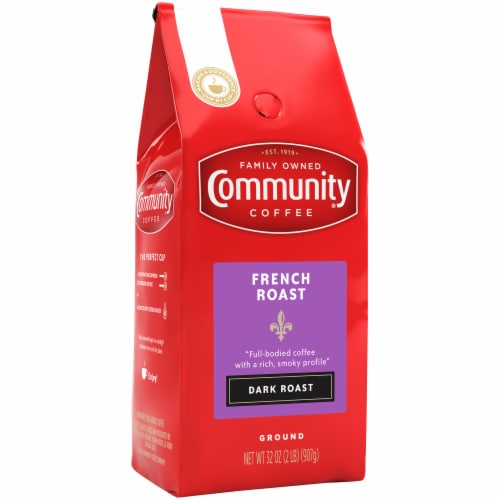 Community Coffee French Roast Dark Roast Ground Coffee Perspective: front