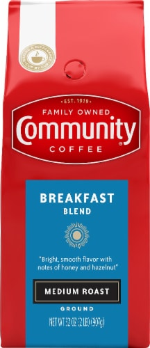 Community Coffee Breakfast Blend Medium Roast Ground Coffee Perspective: front