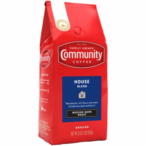 Community Coffee House Blend Medium-Dark Roast Ground Coffee Perspective: front