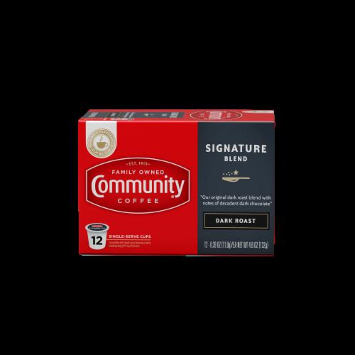 Community Coffee Signature Blend Dark Roast Single-Serve Cups Perspective: front