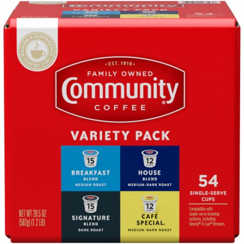 Community Coffee Single-Serve Cups Variety Pack Perspective: front