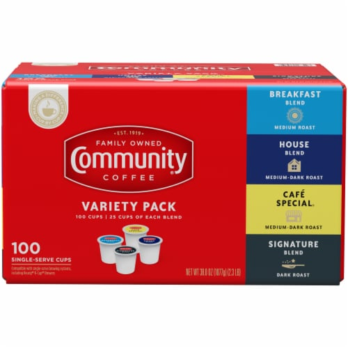Community Coffee Single Serve Cups Variety Pack Perspective: front